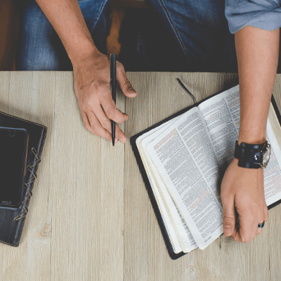 Pastor Zac's Bible study at noon on Wednesdays